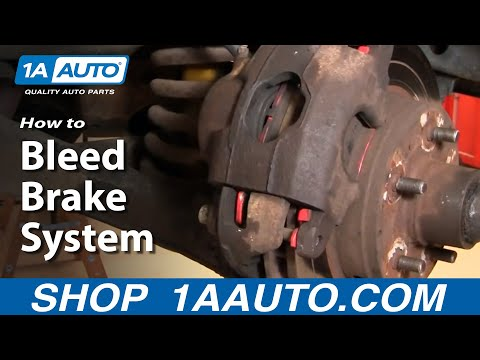 How to Bleed or Purge the Air from Disc Brakes System