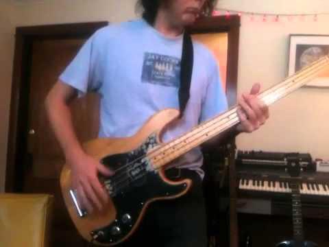 Valley Girl on bass guitar