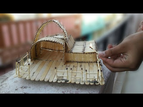 HOW TO MAKE A MATCHSTICK HOUSE BY CREATIVE TEAM