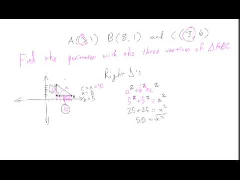 Geometry finding the perimeter of a triangle given it's vertices