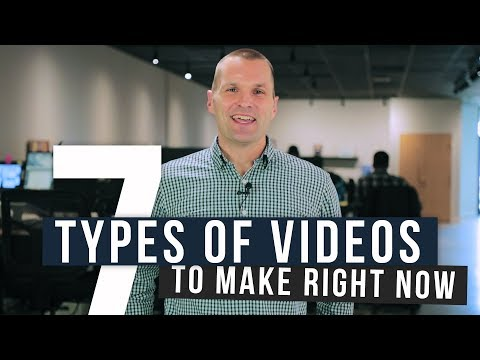 7 Types of Sales/Marketing Videos to Create Right Now