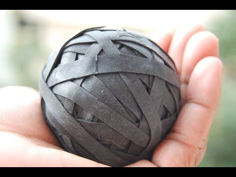 How to make Cricket ball from used two wheeler tube?