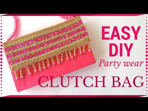DIY Simple Clutch bag Tutorial | No Sew | Handmade paper clutch by Maya Kalista !