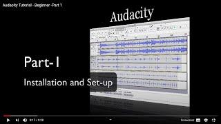 Audacity Tutorial - Beginner -Part 1