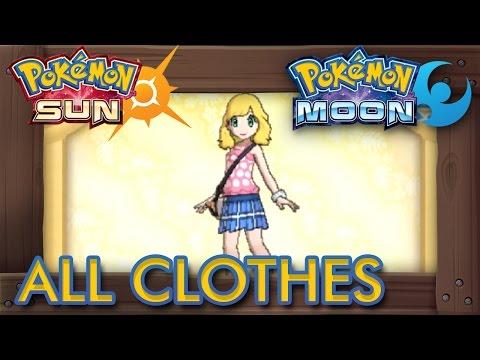 Pokémon Sun and Moon - All Clothes Female
