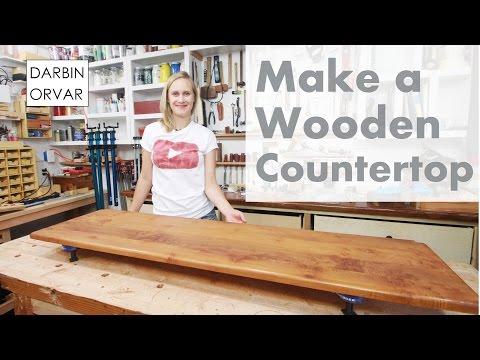 Built-In Cabinet Series Pt 3: Making a Wooden Countertop | Darbin Orvar