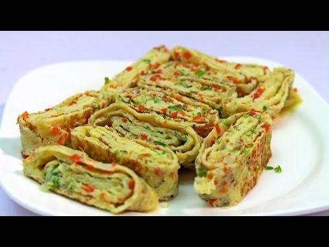 Tamagoyaki Recipe - Chinese Egg Rolls Recipe - Food In 5 Minutes