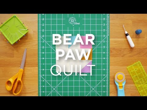 Quilt Snips Mini Tutorial - Bear Paw Quilt