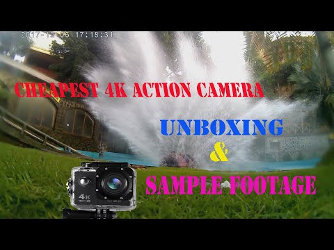 4K WiFi Action camera unboxing and sample footage