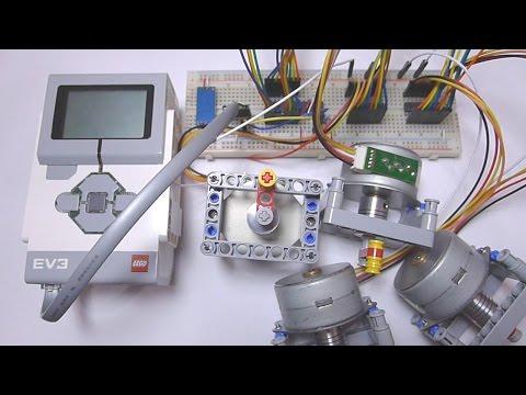 LEGO Stepper Motor DIY Part 2: EV3 Controlling Stepper Motor