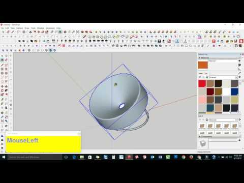 Sketchup Tutorial In Hindi  : How To Make A Chair In Sketchup Part - 9