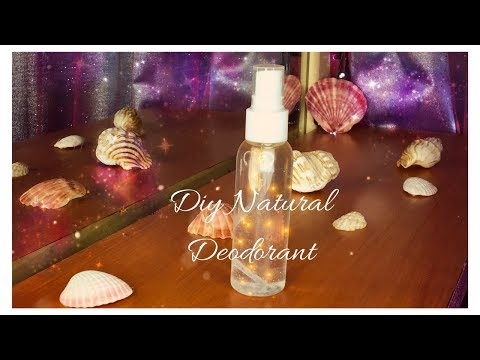 DIY natural deodorant easy homemade spray with natural ingredients