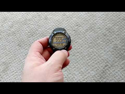 How to reset time and date on an older Armitron watch