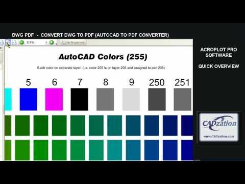 DWG PDF - AUTOCAD DWG TO PDF (CONVERT AUTOCAD DWG TO PDF)