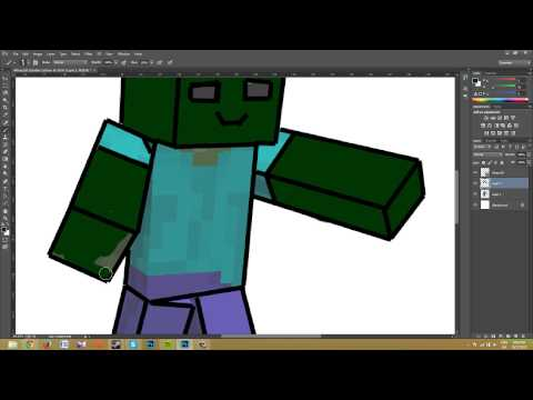 Photoshop CC - Minecraft Cartoon Speed Art