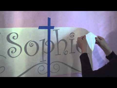 Tips for Wall Monogram Applications