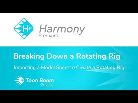 How to Import a Model Sheet to Create a Rotating Rig with Harmony Premium