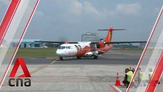 Malaysian budget carrier Firefly's first flight lands at Seletar Airport