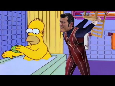 Homer Simpson vs Robbie Rotten with a Chair
