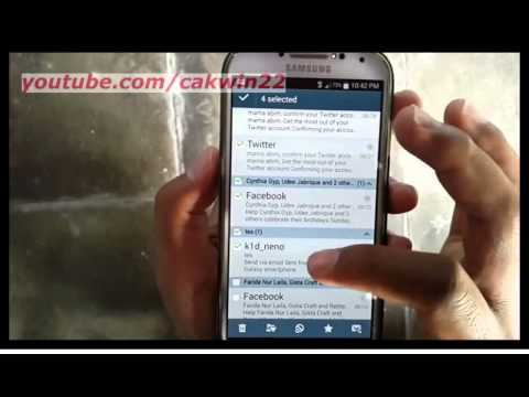 Samsung Galaxy S4 : How to delete emails (Android Kitkat)