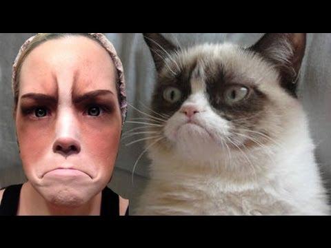 Grumpy Cat Halloween Makeup Tutorial - EASY!!
