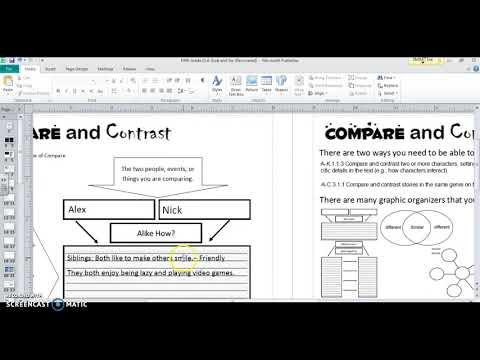 Compare and Contrast 5th Grade