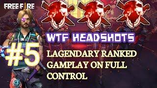 Free Fire WTF Headshots #4 || 12 Kills All Headshots Ranked Match