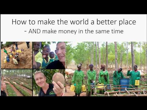 How to make money while making the world a better place