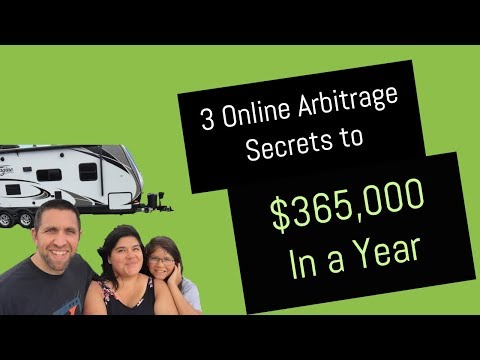 3 Online Arbitrage Secrets To $356,000 In a Year