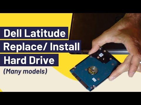 How to Remove Hard Drive / Hard Disk (Dell Latitude)