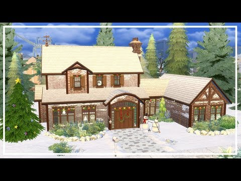 SIMS 4 CHRISTMAS HOUSE PART 1 🌲 Speed Build