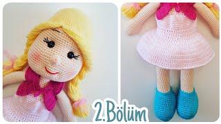 AMİGURUMİ NEHİR BEBEK KAFA VE SAÇ YAPIMI -( Crochet doll head ... | 180x320