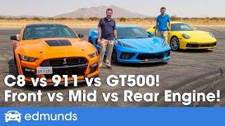 Porsche 911 vs. Shelby GT500 vs. Chevy Corvette ― Sports Car Comparison ― Price, Performance & More