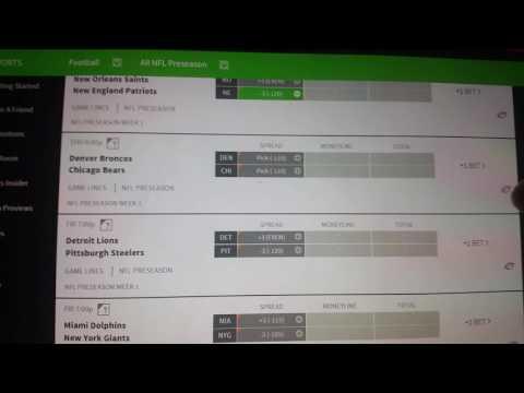 Betting online, preseason NFL