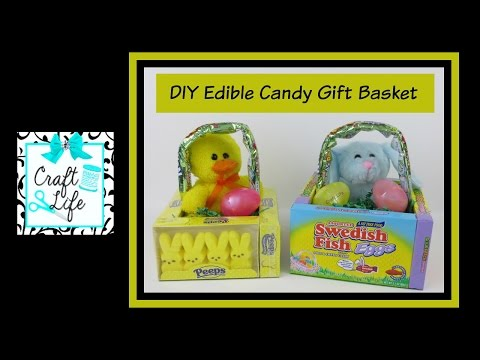 Craft Life ~ Jacy and Kacy DIY ~ Edible Candy Gift Basket ~ Easter Basket Tutorial