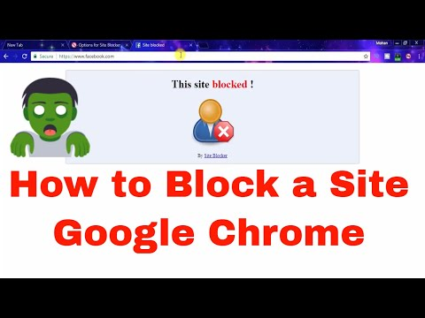 Internet Tutorials in Telugu #20 || How to block a site on Google chrome in Telugu