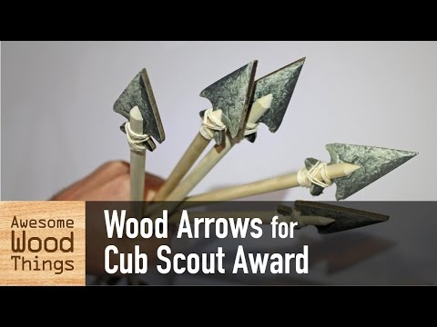 Wood Arrows for Cub Scout Award
