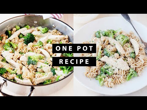 Skillet Meal: Chicken and Broccoli Alfredo Pasta