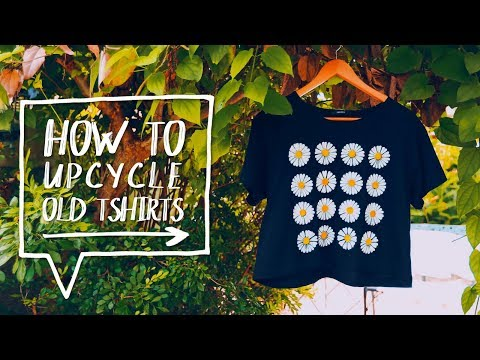 🌻 DIY GRAPHIC TEE | How to Make a Daisy Graphic T-Shirt | DIY Upcycle Clothes ✨Alejandra's Styles