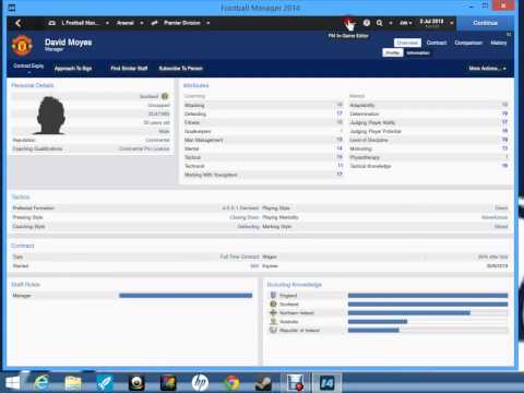 Lets Play Football Manager 2014-Using the in game editor