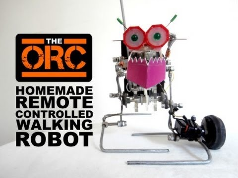 Homemade Remote Controlled Walking Robot
