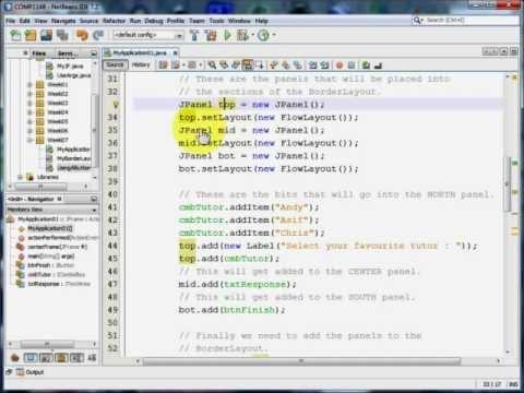 Java GUI - A Small Application