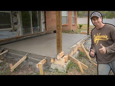 Pour A Concrete Slab Over A Concrete Slab, #3 Porch Conversion Video