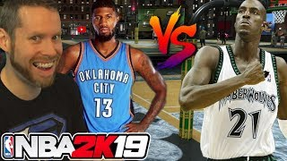 NBA 2K19 Celebrity Game w/ Paul George, Kevin Garnett, Agent, TTG, LSK