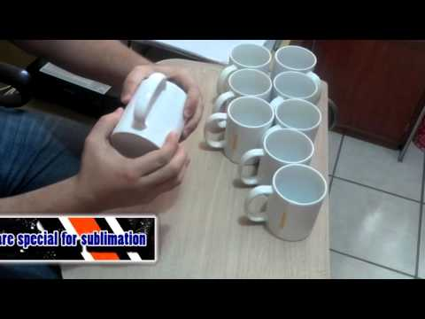 how to sublimate mugs, cups step by step