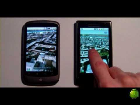 Google Earth on Android - Nexus Vs Droid