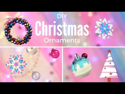 DIY: Cute & Easy Christmas Ornaments 🎄