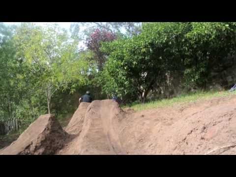 Back yard dirt jumps!