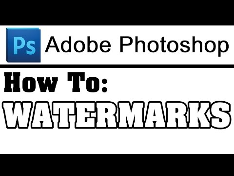 How To Make A Watermark File In Adobe Photoshop - Help Tutorial
