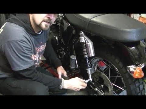 Delboy's Garage, Triumph Scrambler Rear Shock Upgrade.